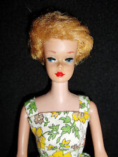 Vintage Blonde Bubble Cut Barbie Doll Straight Leg By Mattel