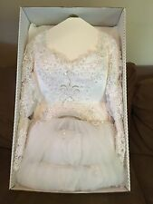 Ashley Jordan Wedding Dress Size 12 With Headpiece & Veil Presserved in box
