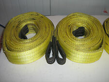 Duplex web slings / towing rope / strop / farm / recovery strap : 6m 3 tonne