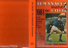 ALMANACCO ILLUSTRATO DEL CALCIO 1981=PANINI MODENA=SERIE A-B-C-D=STATISTICHE