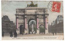 CARTE POSTALE PARIS L ARC DE TRIOMPHE DE LA VICTOIRE PLACE DU CARROUSEL