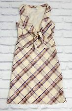 Collectors: Miu Miu Spring 2000 Plaid Wool Weave Top & Skirt w/Hanger IT44/UK12