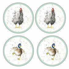 Pimpernel Set of 4 Wrendale Designs Round Coasters Drink Mats Country Animal New