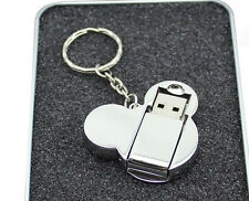 16GB Cartoon Cute Silver Mickey Mouse USB 2.0 Flash Memory Stick Drive Disk