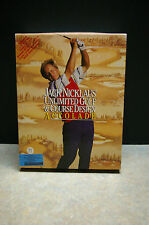 VINTAGE 1990 'JACK NICKLAUS' UNLIMITED GOLF & COURSE DESIGN' 'ACCOLADE' PC GAME