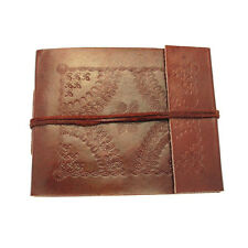 Fair Trade Handmade Eco Small Embossed Leather Photo Album Scrapbook