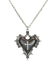 Black Heart Goth Pendant Cross Spike Rose Steampunk Necklace Pendant Punk Gothic