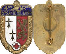 Service de Santé, 4° Région Militaire, type 1, dos lisse doré, D.Ber.Dép.(7207)