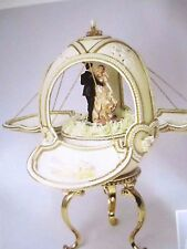 AUTHENTIC DECORATED  OSTRICH EGG ~ HERE COMES THE BRIDE ~ MUSICAL #10105