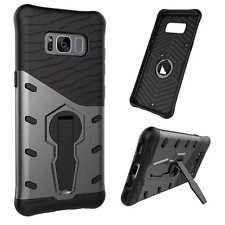 Rugged Hybrid Armor Shockproof Hard Phone Case Stand Cover For Samsung Galaxy S8