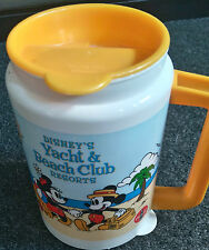 Disney world Yacht Beach Club Resorts Refillable Thermo Mug Cup Yellow Mickey *