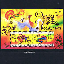 2005 - Australia - Christmas Island - Year of the Rooster mini-sheet - MNH