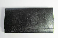 Vintage Black large leather look purse wallet R15201