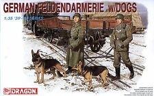 Dragon 1/35 6098 WWII German Feldendarmerie Military Police w/Dogs (4 Figures)