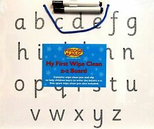 Wipe Clean Alphabet White Board Learn to Write Lower Case Letters a - z Dry Wipe