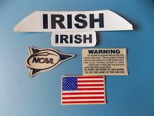 Notre Dame Irish football helmet decals set