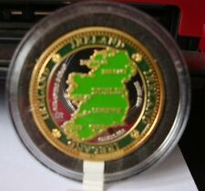 IRELAND COLLECTORS COIN MAP OF IRELAND GREEN & GOLD IRELAND 4 PROVINCES