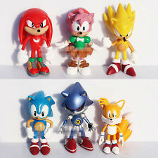 "Sonic The HEDGEHOG Characters PVC 2.2""  6pcs Figure Set"