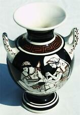 Authentic Vintage GREEK ART VASE from Athens, Greece - HAND MADE & HAND PAINTED
