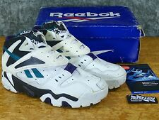 Vintage DS Reebok Preseason Insta-pump Paydirt Sz 9 White/Black - original 90s