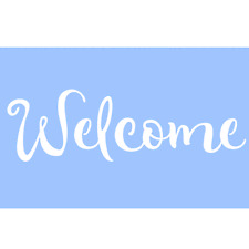 WELCOME STENCIL STENCILS WORD PAINT CRAFT TEMPLATE TEMPLATES BACKGROUND #2 NEW