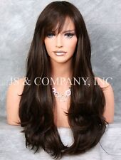 HEAT SAFE WAVY LONG Brown STRAWBERRY MIX SKIN TOP WIG WBKT 4-27