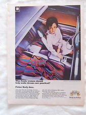 1969 Magazine Advertisement Page For GM Cars Fisher Body Woman Vintage Ad