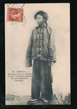 Vietnam Indo-China TONKIN Chinese Border Soldier working French Gov. 1908 PPC
