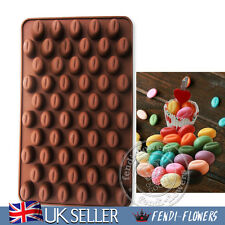 UK 55 Coffee Beans DIY Silicone Chocolate Molds Cake Soap Candy Baking Moulds
