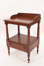 Willett Wash-Stand-Style End Or Lamp Table Solid Cherry Furniture Singler Drawer