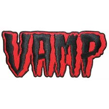 "Vampire ""Vamp"" Blood Dead Nametag Kreepsville Embroidered Iron On Applique Patch"