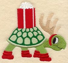 Embroidered Ladies Fleece Jacket - Christmas Turtle A6421