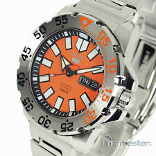 SEIKO 5 SPORTS MONSTER AUTO ORANGE FACE STAINLESS STEEL SRP483K1 SRP483