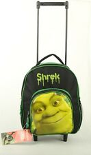"Green Shrek 12"" Rolling Backpack Travel Small  School Toddler Wheeled Bag - New!"