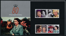 Gibraltar 1038a-d in Presentation Folder MNH Queen Elizabeth 80th Birthday