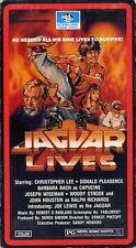 joe lewis / barbara bach  JAGUAR LIVES  donald pleasence     VHS VIDEOTAPE