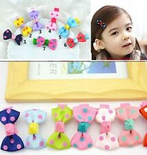 10pcs/lot Dot Print Bow Hairpin Hair Clips for Baby Girls Kids Hair Accessories