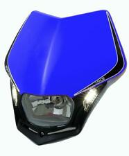 Race Tech V-Face Yamaha Blue LED Headlight Enduro YZ125 YZ250 BLNR009