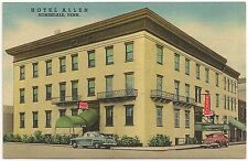 Hotel Allen in Honesdale PA Postcard