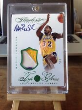 2013-14 Panini Flawless Top of the Class Magic Johnson Patch Auto 3/5