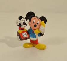 "Vintage Mickey Mouse on Mickey Phone Telephone 2"" PVC Action Figure Applause"
