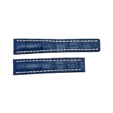 Breitling Blue Leather Strap and White Stitching 719P