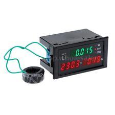LED Digital KWH Watt Power Meter Ammeter Voltmeter AC 80-300V 100A 110V 220V YC