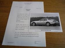 PORSCHE 968 PRESS RELEASE 1993 MY Brochure  jm