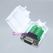 Connector DB9 female 9Pin D-Sub solderless Plastic Cover nut Terminal Board