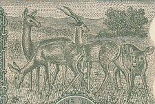 OLD S.JAGANNATHAN SIGN. 5/- 4 DEERS BANK NOTE IN UNC RARE..........