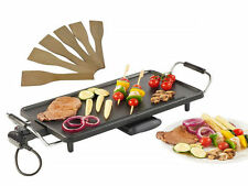 Electric XL Teppanyaki Table Top Grill Griddle Hot Plate Steak Cooking Stone 2kw