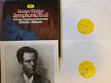 DG 270 117 2 LP STEREO GERMAN MAHLER SYMPHONY No.6 CHICAGO SYMP ABBADO