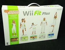NINTENDO - Wii FIT PLUS w/ BALANCE BOARD and Extra ACTIVE PERSONAL TRAINER Game