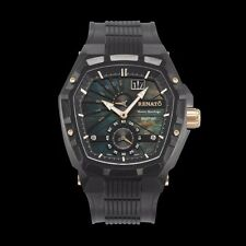Renato Master Horologe Men's Mostro MKII Black with Rose Gold Accents Watch